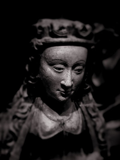 Christianity Madonna Black And White Blackandwhite Close-up Focus On Foreground Light And Shadow Madonna Statue Religion Sculpture Spirituality Statue