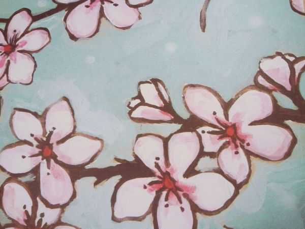 Handmade Cherry Blossom coasters available at https://www.etsy.com/listing/179280271/cherry-blossom-coasters?ref=cat_gallery_1 Coasters Housewares Handmade Nature