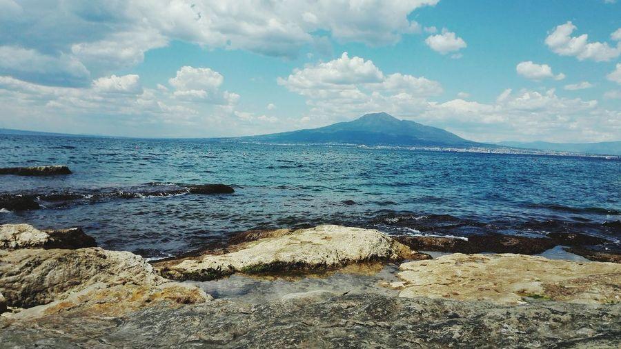 Seiano Water Sea Beach Wave Sand Mountain Blue Rock - Object Sky Horizon Over Water