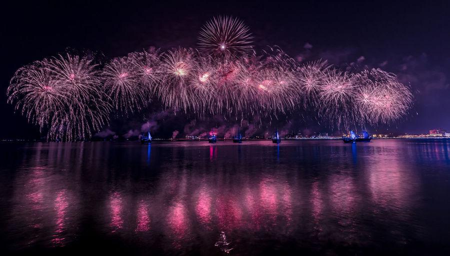 Qatar National Day December 19, 2017 Doha Doha,Qatar Fireworks National QND QND 2017 Day Fireworksphotography Qatar Qatarlife Sky