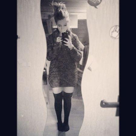 Der harte Winter kann kommen, ich hab die ultimative Kuschel- Kleidung -Kombi ♡ Overknee Socks BIG Pullover strick warm love kuschel ootd potd instagram girlpost tumblr winter snow