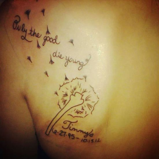 I miss you everyday. Rip Tattoo