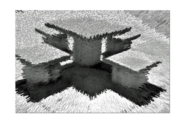 Shoreline Seating @ Middle Harbor 4 Port Of Oakland, Ca. Middle Harbor Shoreline Park Abstract Geometric Square Tables Rectangular Seats Effects Extrude Pixelation Blocks Shadows Black & White Black And White Photography Black And White Black And White Collection  Monochrome Monochrome Photograhy