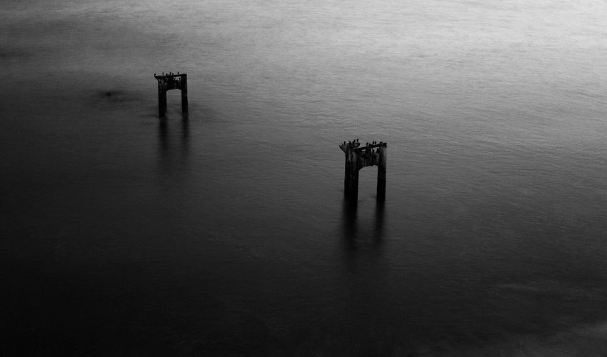 Forgotten Pier. Water Waterfront No People Photography 50mm California Art Canon6d Shore Ocean Longexposure Beachphotography Urban Pier Santacruz Davenport  Blackandwhite B&w Photography Blackandwhitephotography Blackandwhite Photography