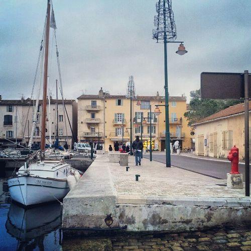 Sainttropez France Provence Harbour street boat