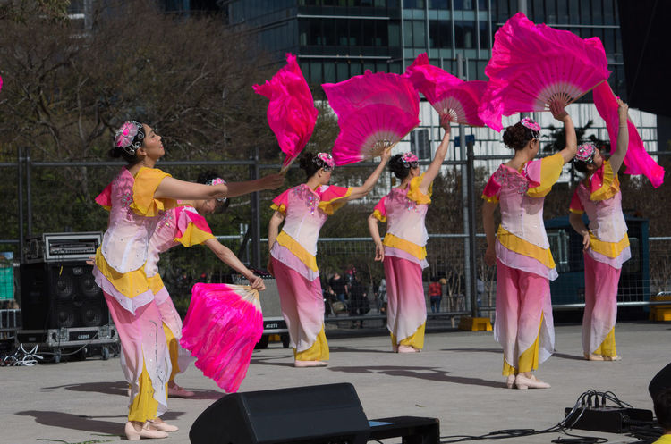 Malaysian Festival in Sydney Arts Culture And Entertainment Celebration Cultures Dancer Dancing Day Elégance Enjoyment Eye4photography  Full Length Fun Group Of People Large Group Of People Leisure Activity Lifestyles Motion Outdoors Performance Performing Arts Event Pink Color Real People Skill  Stage Costume Togetherness Women