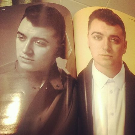 Reading the new Vmagazine with @samsmithworld here. ;)