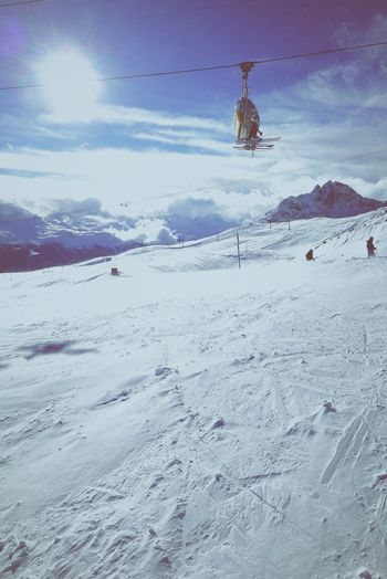 Skiing Passion Mountains Snow Winter Cold