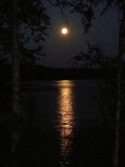 Moonbridge. HUAWEI Photo Award: After Dark Astronomy Water Moon Space Illuminated Moonlight Sea Sky Close-up Full Moon