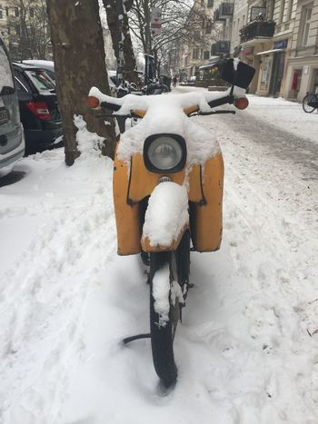 Moped Roller Wintertime