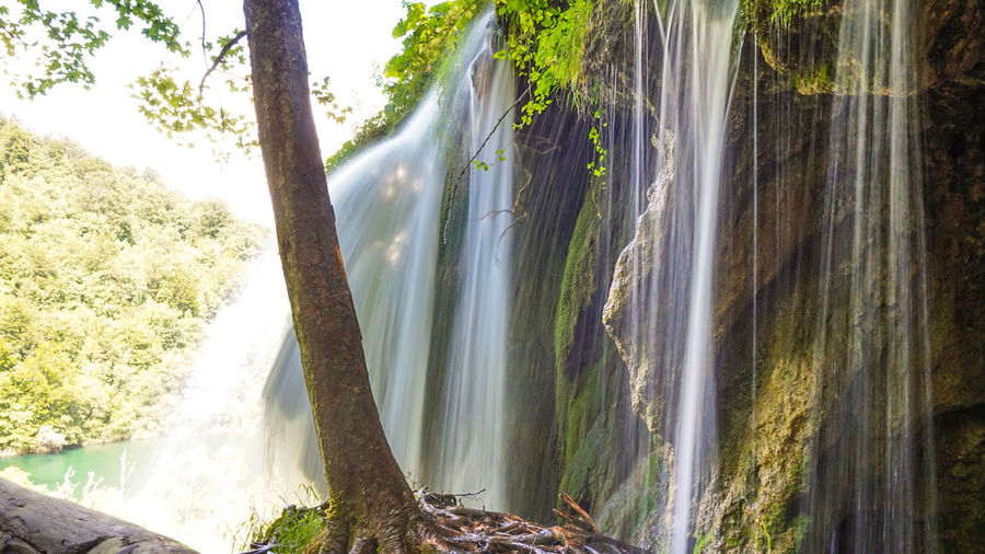 Plitvicer Seen Plitvice Lakes National Park Plitvice National Park Plitvickajezera Croatia Hrvatska Tree Water Waterfall Forest Power In Nature Tranquil Scene Idyllic Lakeside The Mobile Photographer - 2019 EyeEm Awards