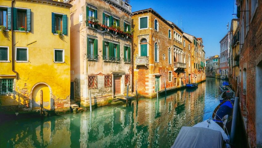 Venezia Venice Italy Travel Photography Travel Traveling Mobile Photography Fine Art Panoramic Views ColoursArchitecture Architectural Heritage Historical Buildings Canals Lagoon Water Reflections And Shadows Wall Textures Mobile Editing