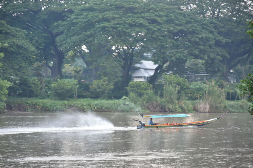 Beauty In Nature Boat Chaingrai Day Kokriver Mode Of Transport Nature Nautical Vessel No People Outdoors River Transportation Tree Water