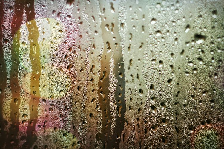 From inside a car Authentic Moments Autumn Natural Bookeh Popular Photos Life Window Waterdrops Wet Misty Colorful