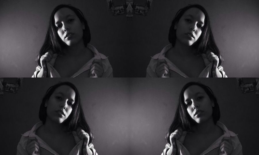 Livin' life in black and white Selfportrait Enjoying Life Black And White Hi!