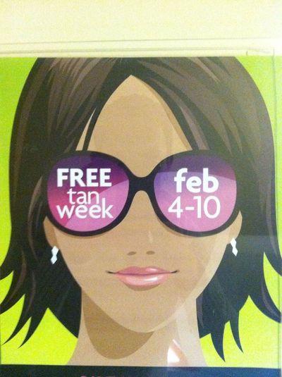 I Love Free Tan Week!