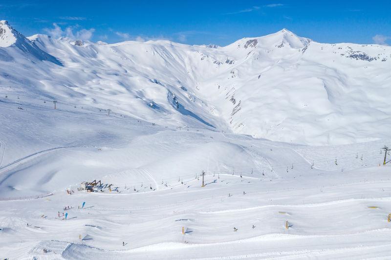 Aerial view of ski resort