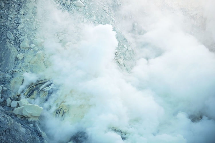 Smoke Dangerous Garden Kawah Ijen Mine Miner Nature Scenics - Nature Sulfur  Valcano