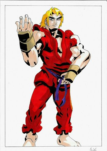 By Sam Ken Masters with promarkers on A4 paper CAPCOM Streetfighter Artgallery Drawing Desenho MyArt Art Gallery My Art Art French