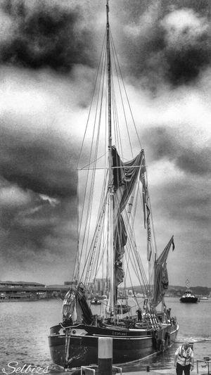 Taking Photos Black & White Riverside Boats