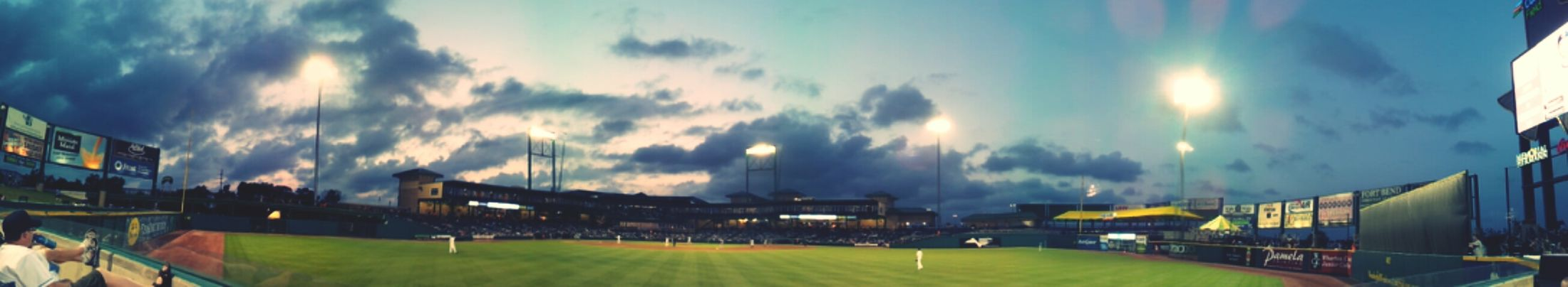 Kicking it at the Skeeters Game sipping on some Coke & Crown.