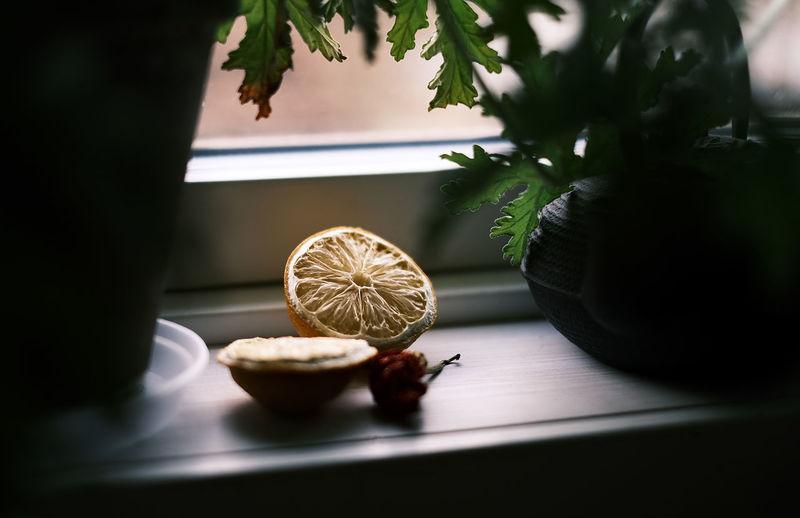 Lemons in the kitchen window
