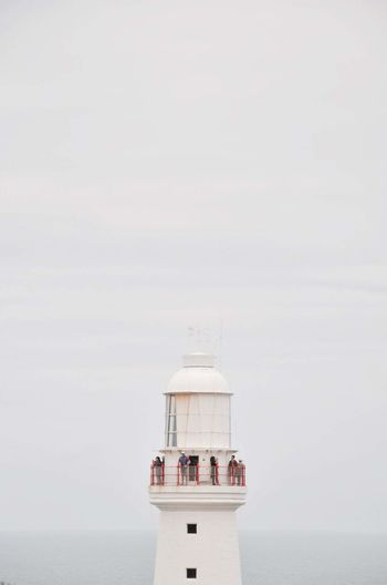 Lighthouse Against Sky During Foggy Weather