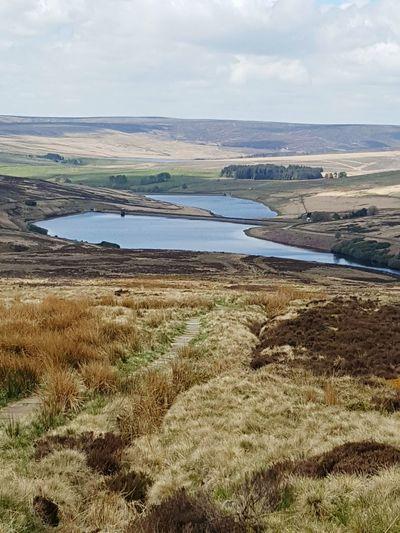Landscape Cloud - Sky Outdoors Water Rural Scene Pennine Way Resevoir
