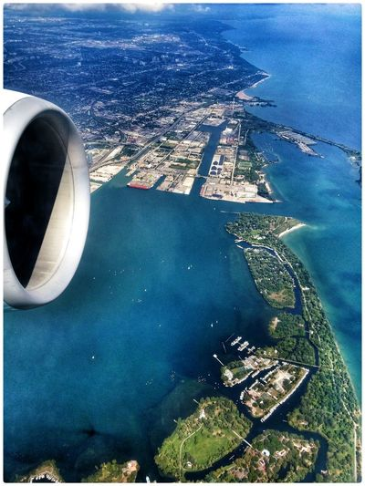 Flying over Toronto harbour and Toronto Islands in Lake Ontario. Couldn't get GPS location due to being in Flight Mode. Taking Photos Enjoying The Colours Enjoying The Light The View From Here Torontowaterfront EyeEm Best Shots 2015 08 25
