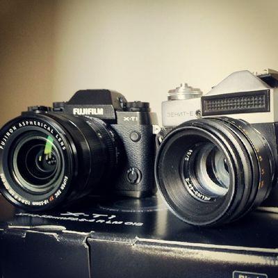 Vintage modern Photo Camera Fujifilm Fujinon fujixt1 zenite vintage analogphotography filmcamera