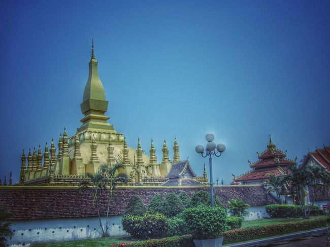 Traveling to Laos Architecture Clear Sky Travel Destinations Place Of Worship Enjoy The Silence No People Day Cozy Place Budist Tempel East Asia M Laos 2016 Pastel Colors