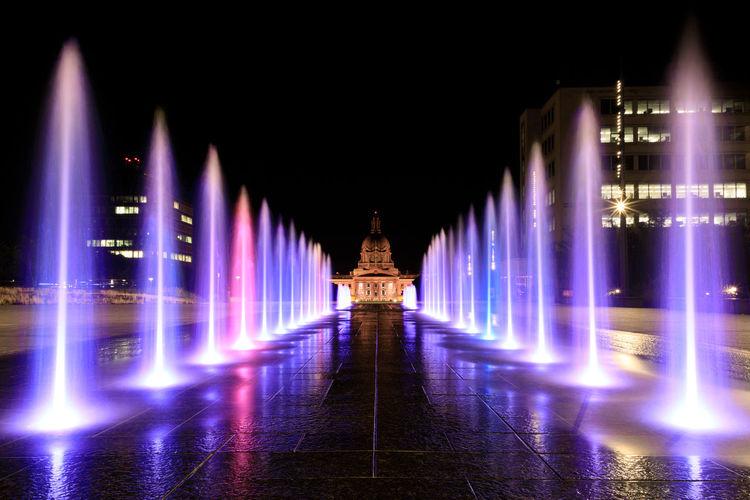 Colors Canada City Politics And Government Illuminated Architecture Built Structure Fountain