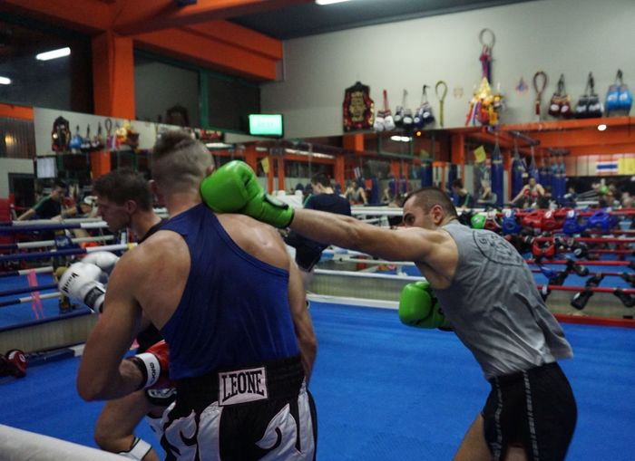 sparring session with Samo Petje Boxing Zagreb, Croatia Boxing - Sport Boxing Glove Boxing Ring Indoors  Jasmin Bajrović Kickbox Training Leisure Activity Punching Real People Samo Petje Sparring Session Sports Clothing