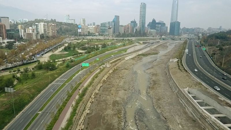 Aerial view of a river and higway Aerial Shot Architecture Cityscape River View Aerial Landscape Aerial View Day Highway Outdoors