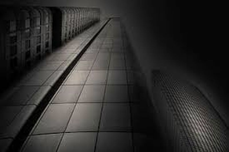 View of illuminated subway