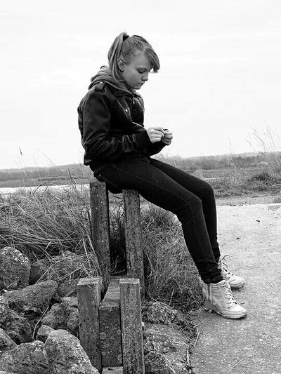 My moody teenager The Human Condition Monochrome Potrait Black & White