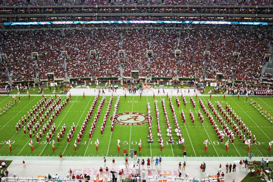 UA Spellout. Million Dollar Band preforming halftime. Bama Bryant Denny Stadium Crimson Tide  Crowd Football Large Group Of People Million Dollar Band Outdoors Stadium The University Of Alabama Tuscaloosa Tuscaloosa, Alabama University Of Alabama The Color Of Sport