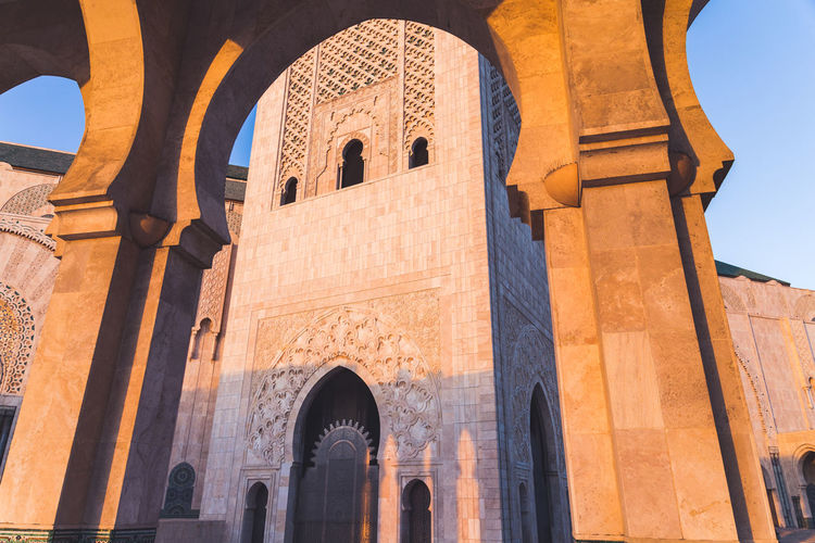 Exterior of hassan ii mosque, casablanca, morocco