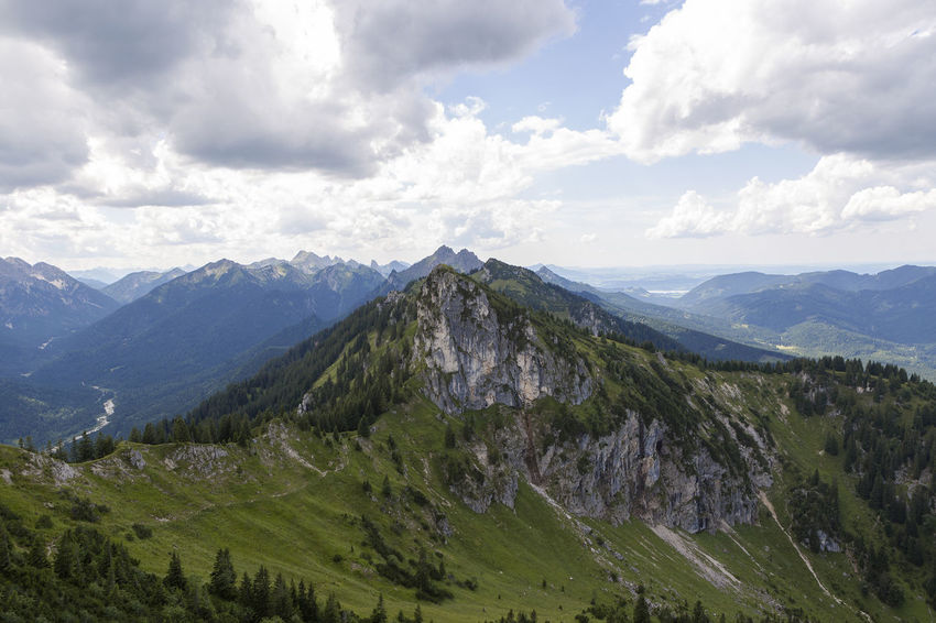 Panorama Teufelstaettkopf Bavarian Alps Beauty In Nature Cloud - Sky Day Landscape Mountain Mountain Range Nature No People Outdoors Peak Scenics Sky Tranquil Scene Tranquility