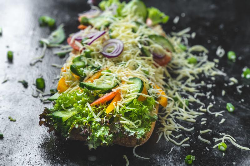 healthy, colorful sandwich Vegetable Essen Mittagessen Mittagstisch Lunch Food Colorful Calories Healthy Eating Healthy Lifestyle Diet Snack Food Breakfast Sandwiches Sandwich Dark Light
