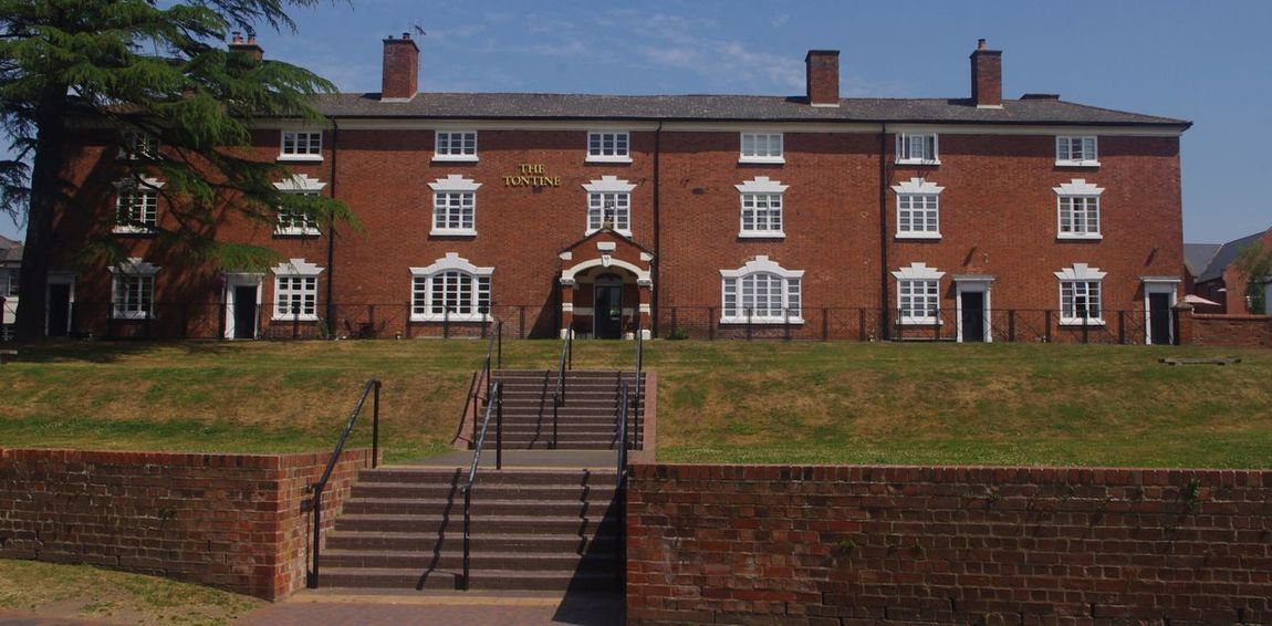 The Tontine Architecture Building Exterior Built Structure Georgian Architecture House No People Residential Building Steps Stourport