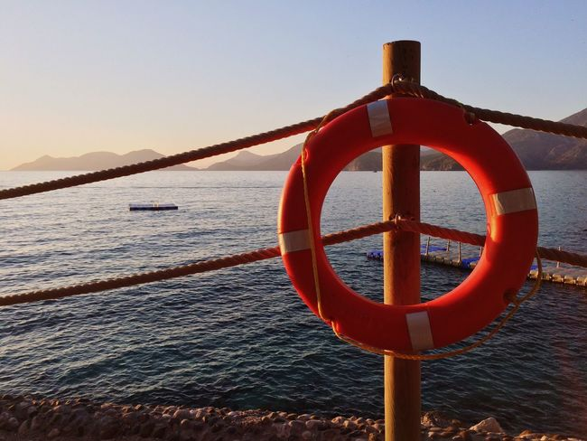 Water Sea Life Belt Nautical Vessel Safety Nature No People Beach Horizon Over Water Tranquility