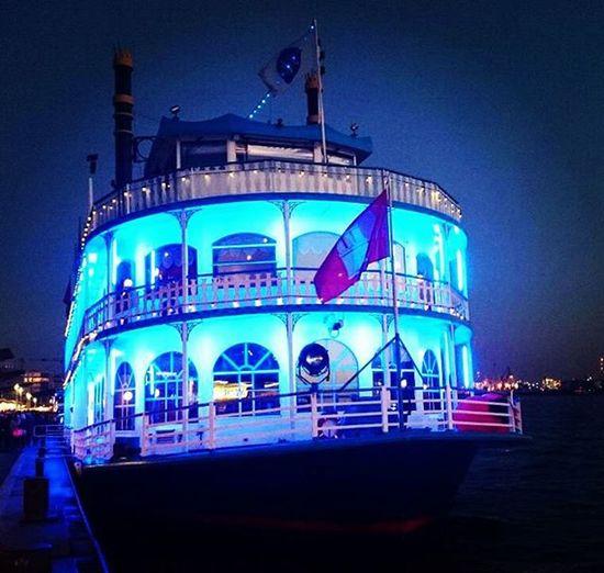 Hamburg Hamburg Harbour Ship Paddlesteamer Louisianastar Steamboat Blueship Northsea Boat Partyship Nightlights Bestshot Nightshot Shotoftheday Eyeemoninstagram Bestnight