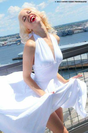 Marylin Monroe Baltimore Maryland Model Dress Photography Condo Make-up Penthouse Windy