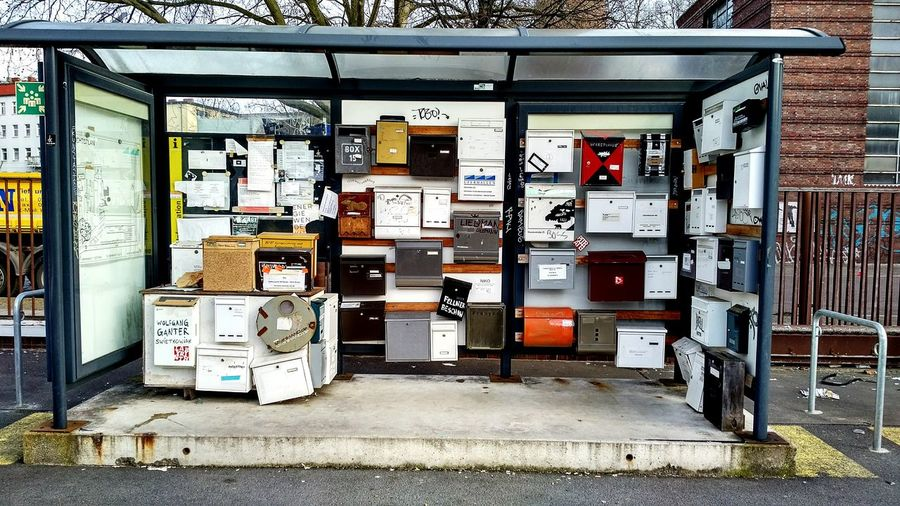 Mailboxes In Bus Stop