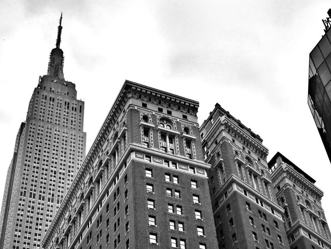 Architecture B&W Collection Building Exterior Built Structure Empire State Building Low Angle View Tall - High