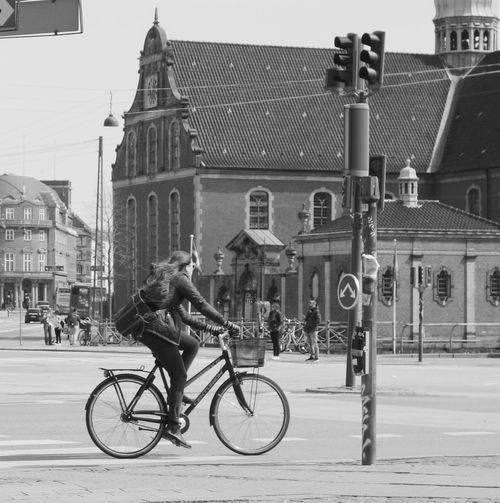 Cyclist Cycling Bicycle Bici Copenhagen Cph Copenhagen, Denmark Bicicleta
