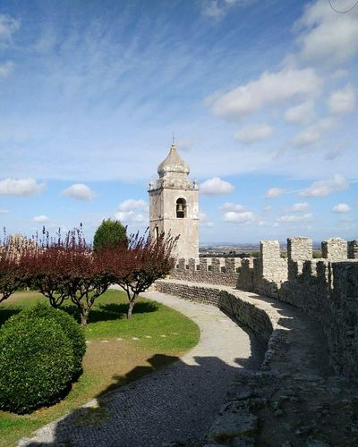 Architecture History Building Exterior Travel Destinations Cloud - Sky Built Structure Sky Castle Clock Tower Outdoors Portugal Portugallovers Montemorovelho Castel Castelosdeportugal Beauty In Nature