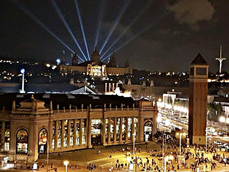 Neighborhood Map Barcelona Night Illuminated Arts Culture And Entertainment Architecture Nightlife City Las Arenas, Barcelona Plaça Espanya Barcelona