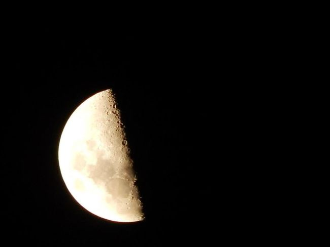 Dark Darkness Night Lights Astronomy Beauty In Nature Copy Space Darkness And Light Half Moon Low Angle View Majestic Moon Moon Surface Nature Night Night View No People Outdoors Planetary Moon Scenics Sky Space Space Exploration Tranquil Scene Tranquility Zoom